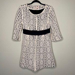 Johnny Was crochet lace mini dress
